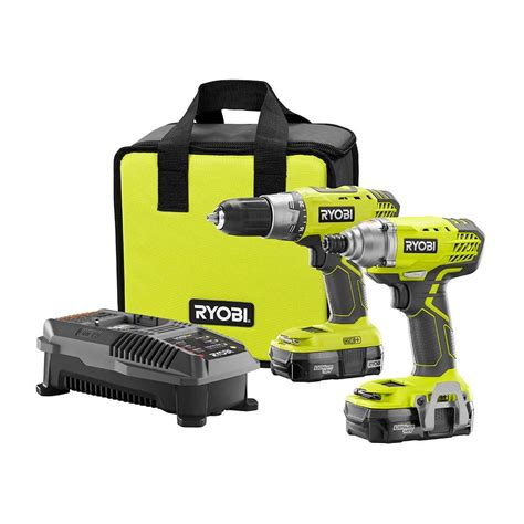 ryobi 18 volt one drill driver and impact driver kit