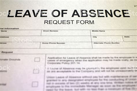 leave of absence request form template leave of absence request form stock photo more pictures