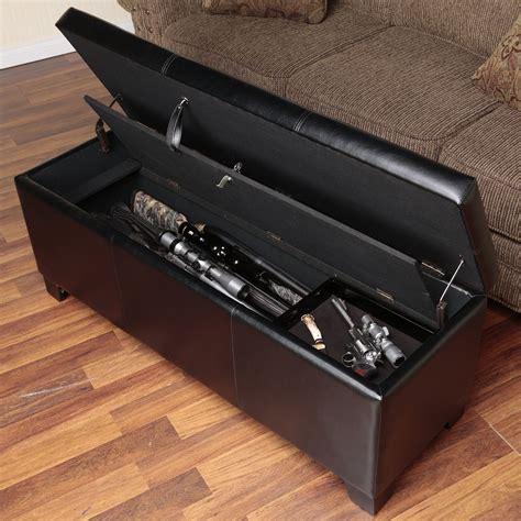 bench gun gun storage bench hidden concealed cabinet guns shotgun