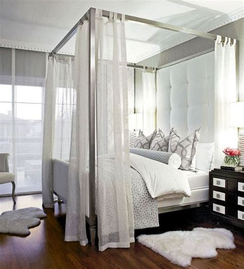 how to hang curtains on a canopy bed 33 canopy beds and canopy ideas for your bedroom digsdigs