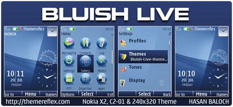 nokia c2 blue themes bluish live theme for nokia x2 c2 01 240 215 320 themereflex