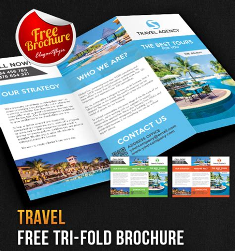 tri fold brochure template psd 65 print ready brochure templates free psd indesign ai