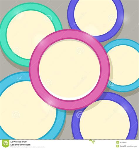 Shiny Card Template by Abstract Modern Shiny Card Template With Colorful Rings
