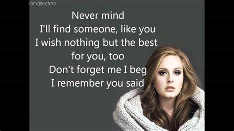 adele someone like you lyrics suomeksi someone like you adele lyrics hd youtube
