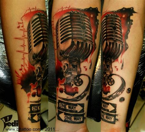 microphone watercolor tattoo 15 best images about trash polka tattoos on pinterest