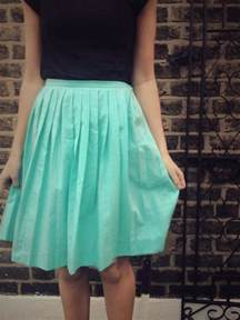 diy pleated skirt by
