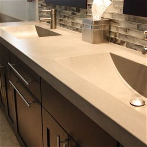 concrete countertop with integrated sink amazing concrete countertop with integrated sinks