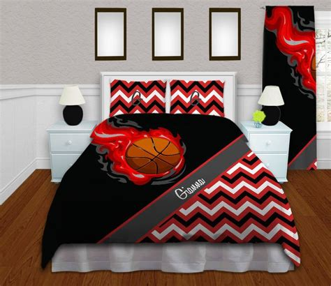 basketball twin bedding girls basketball duvet cover red teen bedding kids