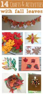 14 crafts amp activities fall leaves flash cards