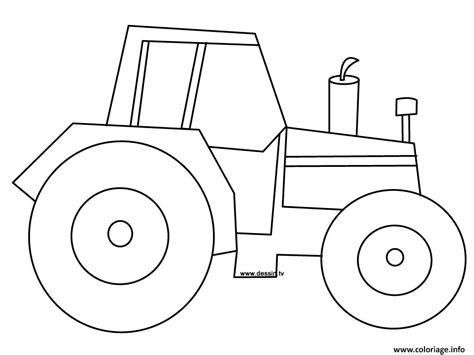 tractor coloring pages preschool coloriage tracteur 2 dessin