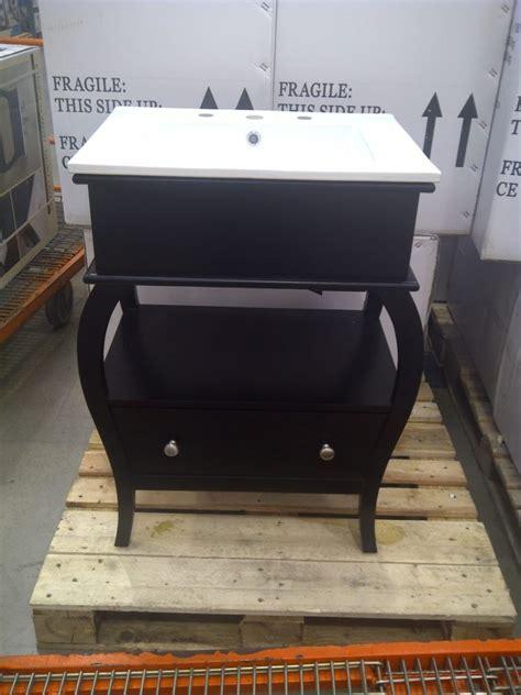 unique black costco bathroom vanity design with combined