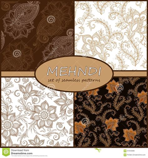 henna tattoo background henna mehndi doodles seamless pattern background