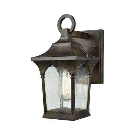 clear small outdoor light titan lighting loringdale small 1 light hazelnut bronze