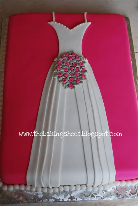 bridal shower cake wedding dress the baking sheet bridal shower cake