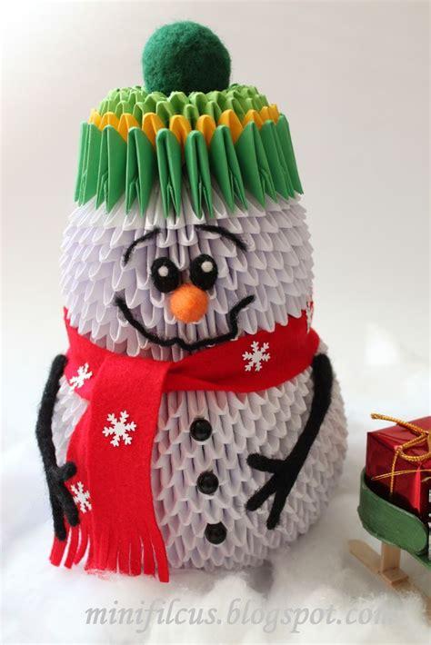 3d origami snowman diy how to make snowman origami 3d quot krok po kroku quot diy