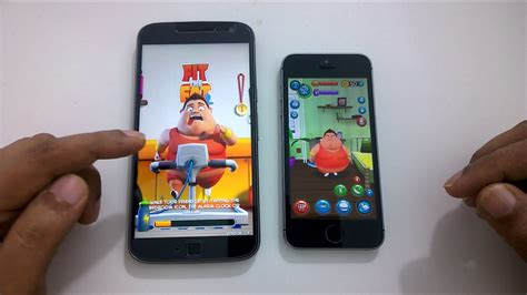 moto g4 plus vs iphone 6s se speed test