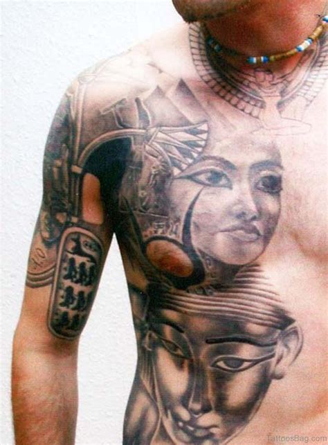 chest tattoo vs rib tattoo 46 classic egyptian tattoos designs on rib
