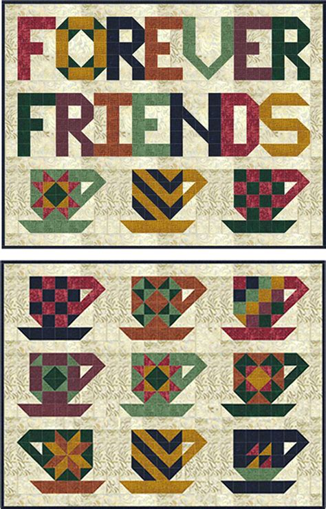Cup of Friendship Quilt Pattern SP 209 (advanced beginner