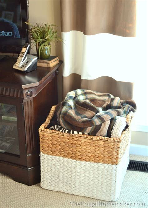 large basket for storing throw pillows 15 ways to use open storage to organize your home