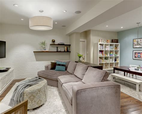 Basement Living Room Ideas Contemporary Basement Remodeling Ideas Pic 011 Small Room Decorating Ideas
