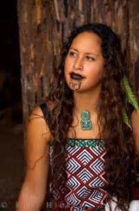 photo of a maori woman at the wairakei terraces in new zealand