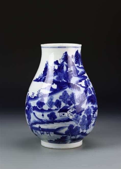 Blue And White Vase by Blue And White Vase