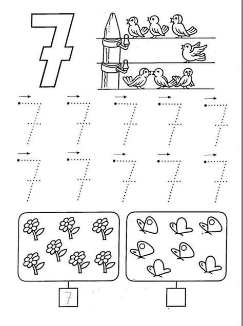 number 7 worksheets free printable number seven worksheets 8 171 funnycrafts