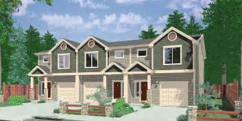 Duplex Floor Plans With Double Garage Narrow Lot Duplex House Plans Narrow And Zero Lot Line