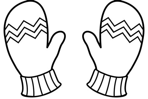 Coloring Pages Winter Gloves | christmas gloves coloring pages