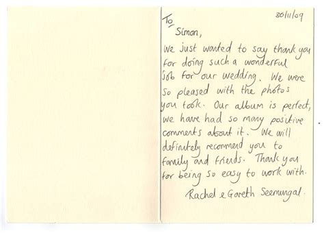 thank you letter after wedding sle wedding dress style writing thank you letters after wedding