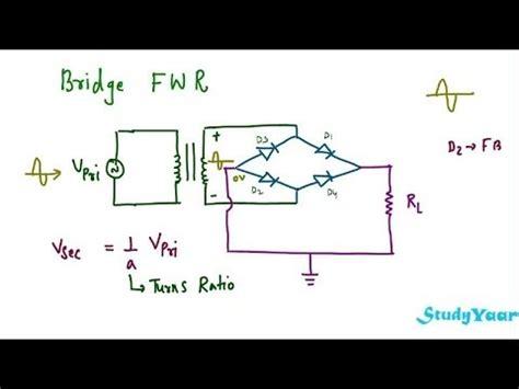 diode bridge rectifier formula wave rectifier rms value average value ripple factor peak inverse voltage