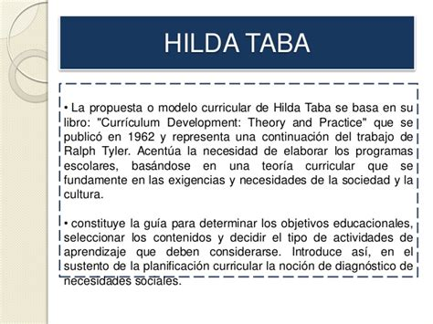 Criticas Al Modelo Curricular De Hilda Taba Modelos Curriculares Esthefany Alvarado 1