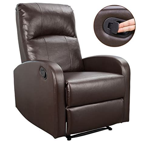 homall recliner chair padded pu leather home theater