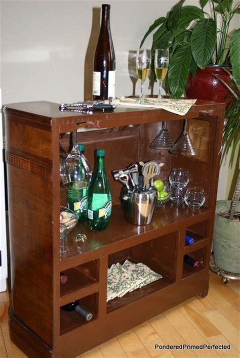radio cabinet mini bar living room portland by