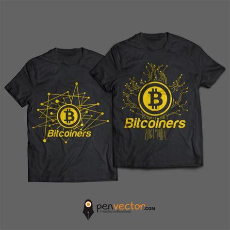 font untuk design t shirt bitcoiners design t shirt vector free vector