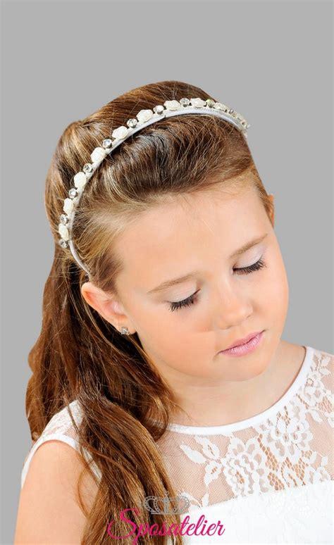 cerchietti per capelli con fiori accessori per capelli per prima comunione bimba cerchietto