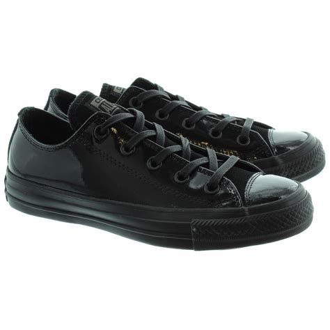 chuck shoes for converse chuck talor ox patent lace shoes in black patent