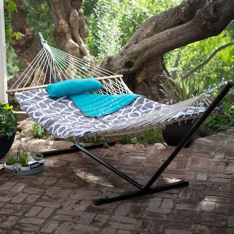 hammock with stand outdoor patio cing cotton