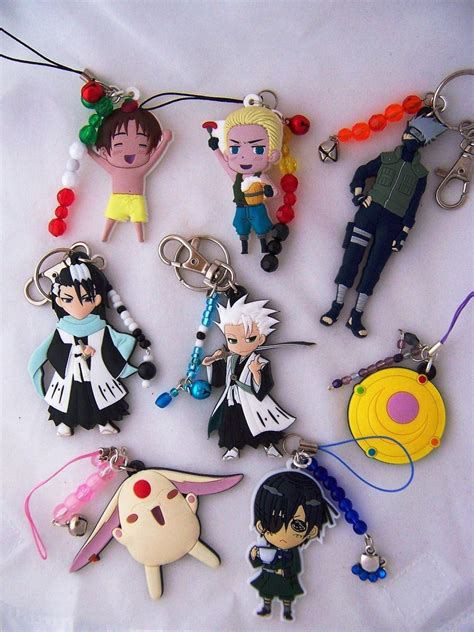 Anime Keychains by Anime Keychains And Charms By Shishodesigns On Deviantart