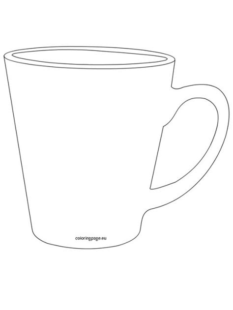 cup template foods and drinks coloring page