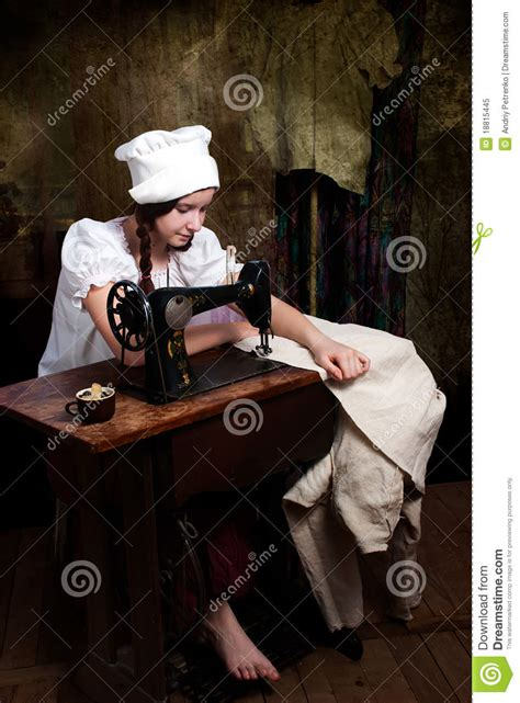 old machine writing royalty free stock images image 33200379 young seamstress with old sewing machine royalty free