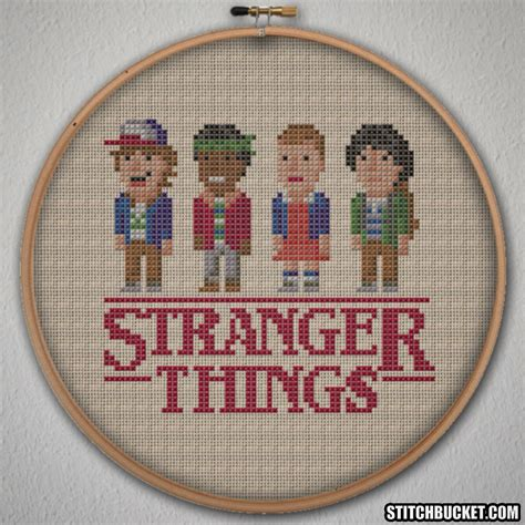 pattern in cross stitch stranger things cross stitch pattern instant download pdf