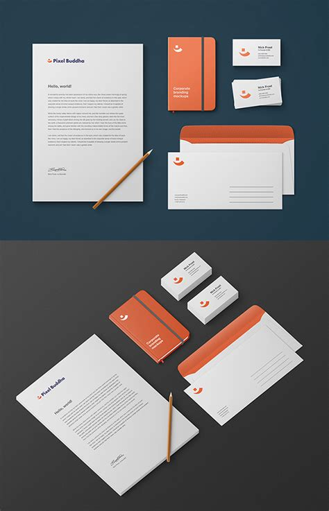 mockup graphic design 50 free branding identity stationery psd mockups