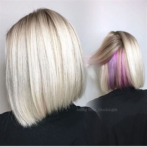 bob hairstyles with color underneath balayage with dark underneath