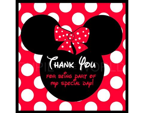 Minnie Mouse Thank You Card Template by 17 Best Images About Thank You On Disney