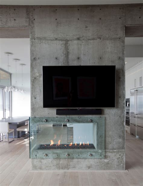 double sided fireplace problems fireplaces as room dividers 15 double sided design ideas