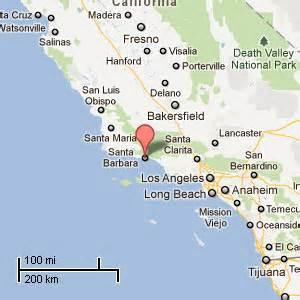 where is santa barbara california on the map vacation rental in downtown santa barbara city