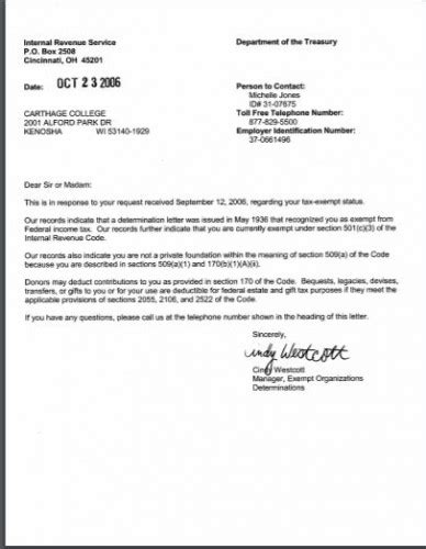 irs determination letter irs 501 c 3 determination letter office of sponsored 1340