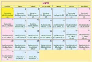 Calendario Biblico 2015 Calendario B 237 Blico De Marzo 2015