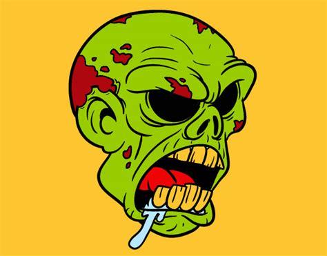 fotos terrorificas animadas dibujos de zombis mas visitados para colorear dibujos net